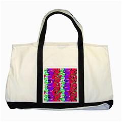 Colorful Glitch Pattern Design Two Tone Tote Bag