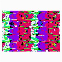 Colorful Glitch Pattern Design Large Glasses Cloth