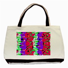 Colorful Glitch Pattern Design Basic Tote Bag (Two Sides)