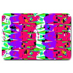 Colorful Glitch Pattern Design Large Doormat