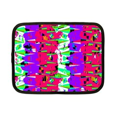 Colorful Glitch Pattern Design Netbook Case (Small)