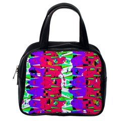 Colorful Glitch Pattern Design Classic Handbags (One Side)