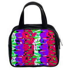 Colorful Glitch Pattern Design Classic Handbags (2 Sides)