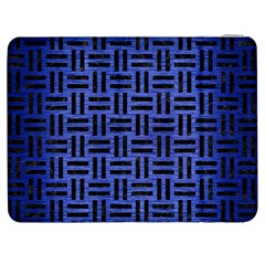 Woven1 Black Marble & Blue Brushed Metal (r) Samsung Galaxy Tab 7  P1000 Flip Case