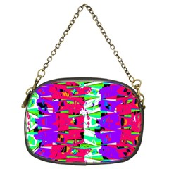 Colorful Glitch Pattern Design Chain Purses (Two Sides)