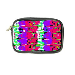 Colorful Glitch Pattern Design Coin Purse
