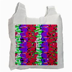 Colorful Glitch Pattern Design Recycle Bag (Two Side)