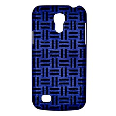 Woven1 Black Marble & Blue Brushed Metal (r) Samsung Galaxy S4 Mini (gt I9190) Hardshell Case