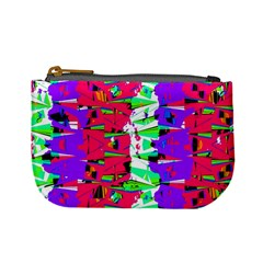 Colorful Glitch Pattern Design Mini Coin Purses