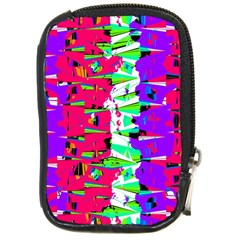 Colorful Glitch Pattern Design Compact Camera Cases