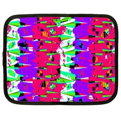 Colorful Glitch Pattern Design Netbook Case (XL)