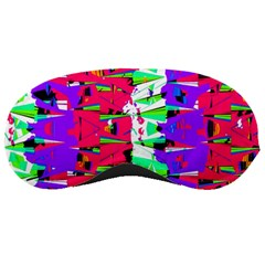 Colorful Glitch Pattern Design Sleeping Masks