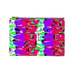 Colorful Glitch Pattern Design Cosmetic Bag (Large)
