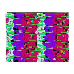 Colorful Glitch Pattern Design Cosmetic Bag (XL)