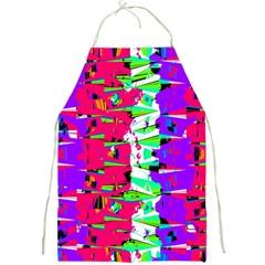 Colorful Glitch Pattern Design Full Print Aprons