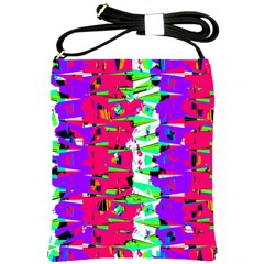 Colorful Glitch Pattern Design Shoulder Sling Bags