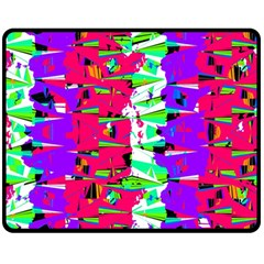 Colorful Glitch Pattern Design Fleece Blanket (Medium)