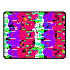 Colorful Glitch Pattern Design Fleece Blanket (Small)