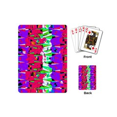 Colorful Glitch Pattern Design Playing Cards (Mini)