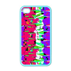 Colorful Glitch Pattern Design Apple iPhone 4 Case (Color)