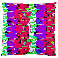 Colorful Glitch Pattern Design Large Cushion Case (Two Sides)
