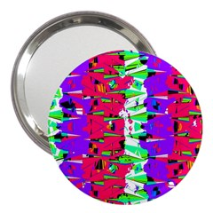 Colorful Glitch Pattern Design 3  Handbag Mirrors