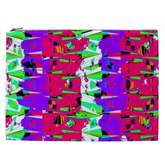 Colorful Glitch Pattern Design Cosmetic Bag (XXL)
