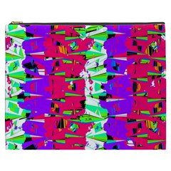 Colorful Glitch Pattern Design Cosmetic Bag (XXXL)