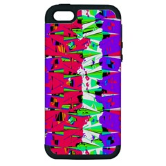 Colorful Glitch Pattern Design Apple iPhone 5 Hardshell Case (PC+Silicone)