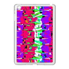 Colorful Glitch Pattern Design Apple iPad Mini Case (White)