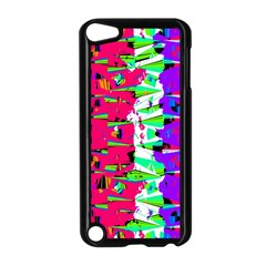 Colorful Glitch Pattern Design Apple iPod Touch 5 Case (Black)