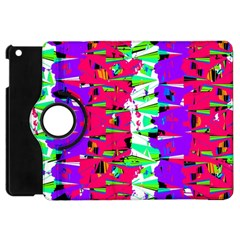 Colorful Glitch Pattern Design Apple iPad Mini Flip 360 Case