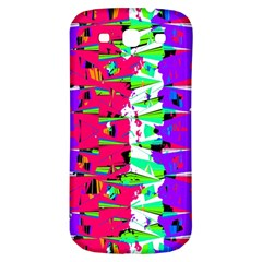 Colorful Glitch Pattern Design Samsung Galaxy S3 S III Classic Hardshell Back Case
