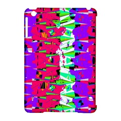 Colorful Glitch Pattern Design Apple iPad Mini Hardshell Case (Compatible with Smart Cover)
