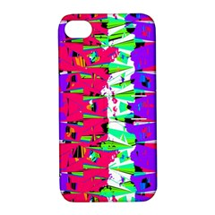 Colorful Glitch Pattern Design Apple iPhone 4/4S Hardshell Case with Stand