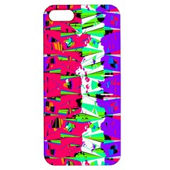 Colorful Glitch Pattern Design Apple iPhone 5 Hardshell Case with Stand