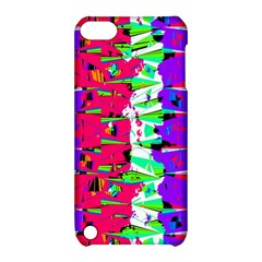 Colorful Glitch Pattern Design Apple iPod Touch 5 Hardshell Case with Stand