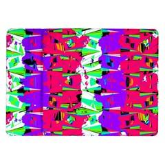 Colorful Glitch Pattern Design Samsung Galaxy Tab 10.1  P7500 Flip Case