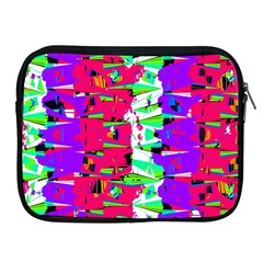 Colorful Glitch Pattern Design Apple iPad 2/3/4 Zipper Cases