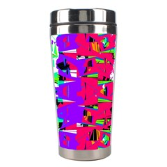 Colorful Glitch Pattern Design Stainless Steel Travel Tumblers