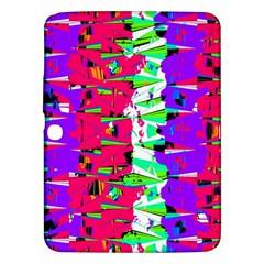 Colorful Glitch Pattern Design Samsung Galaxy Tab 3 (10.1 ) P5200 Hardshell Case
