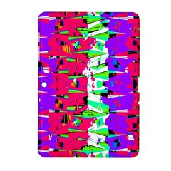 Colorful Glitch Pattern Design Samsung Galaxy Tab 2 (10 1 ) P5100 Hardshell Case