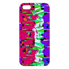 Colorful Glitch Pattern Design iPhone 5S/ SE Premium Hardshell Case