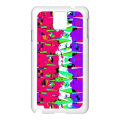 Colorful Glitch Pattern Design Samsung Galaxy Note 3 N9005 Case (White)