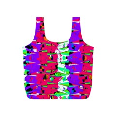 Colorful Glitch Pattern Design Full Print Recycle Bags (S)
