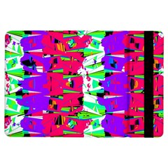 Colorful Glitch Pattern Design iPad Air Flip