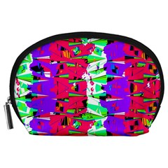 Colorful Glitch Pattern Design Accessory Pouches (Large)