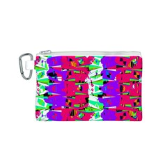 Colorful Glitch Pattern Design Canvas Cosmetic Bag (S)