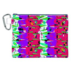 Colorful Glitch Pattern Design Canvas Cosmetic Bag (XXL)