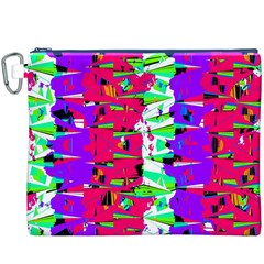Colorful Glitch Pattern Design Canvas Cosmetic Bag (XXXL)